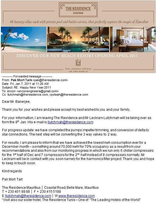Resort Hotel Energy Saving Testimonial